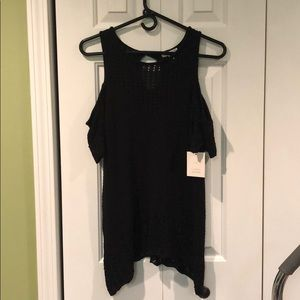 NWT Lauren Conrad Cold Shoulder Knit Top